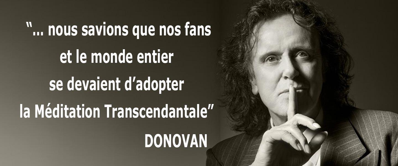 Donovan parle de la Méditation Transcendantale