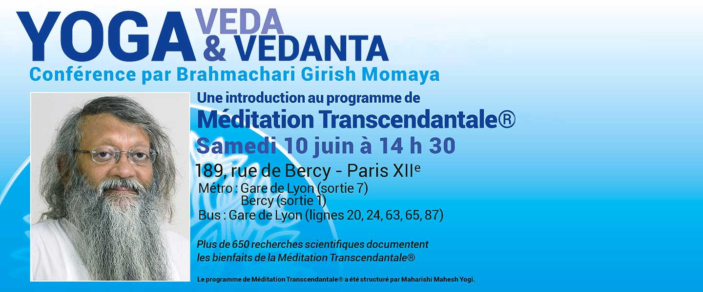 Girish Momaya - Conférence Veda Yoga Vedanta à Paris