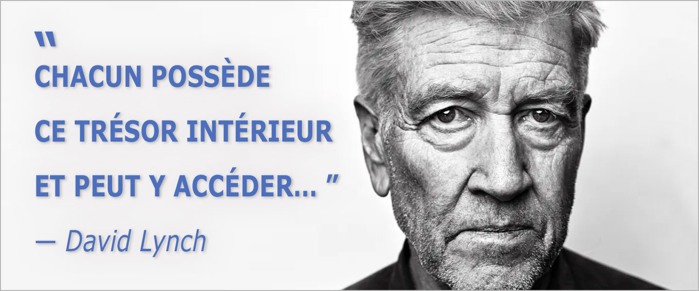 Photo David Lynch France Culture pour Méditation Transcendantale